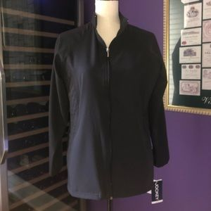 Jockey Women's Scrubs Quilted Black Jacket